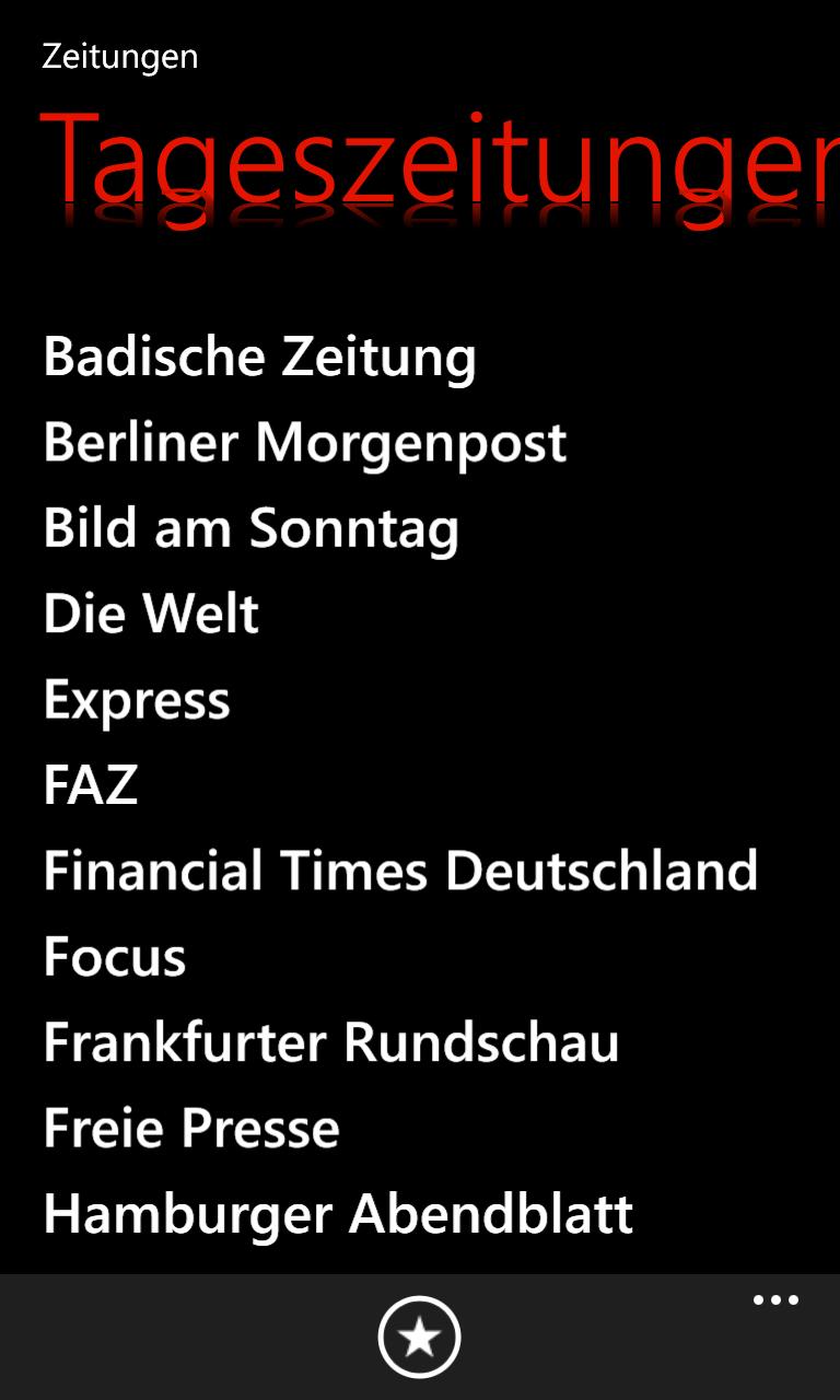 Liste von Zeitungen